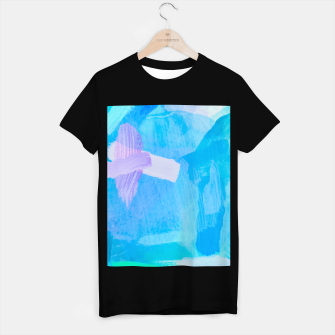 Thumbnail image of brush painting texture abstract background in blue purple T-shirt regular, Live Heroes