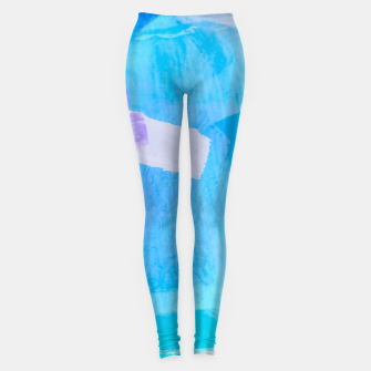 Thumbnail image of brush painting texture abstract background in blue purple Leggings, Live Heroes