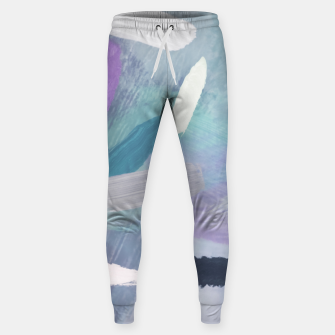 Thumbnail image of brush painting texture abstract background in purple green black Sweatpants, Live Heroes