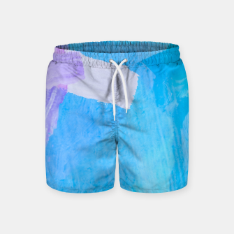 Thumbnail image of brush painting texture abstract background in blue purple Swim Shorts, Live Heroes