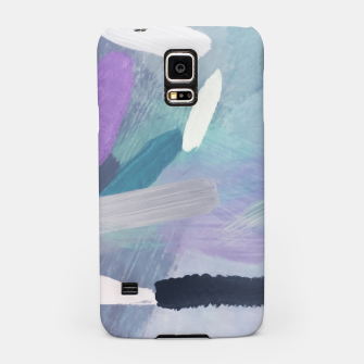Thumbnail image of brush painting texture abstract background in purple green black Samsung Case, Live Heroes