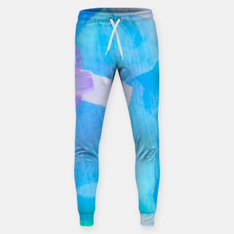 Thumbnail image of brush painting texture abstract background in blue purple Sweatpants, Live Heroes