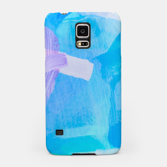 Thumbnail image of brush painting texture abstract background in blue purple Samsung Case, Live Heroes