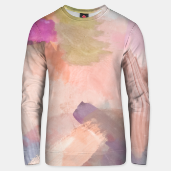 Miniaturka brush painting texture abstract background in pink purple yellow green Unisex sweater, Live Heroes