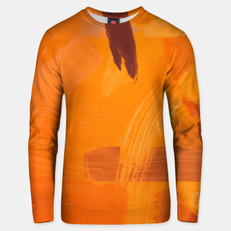 Miniaturka brush painting texture abstract background in orange brown Unisex sweater, Live Heroes