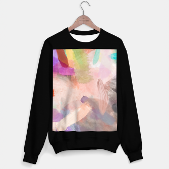 Miniatur brush painting texture abstract background in pink purple yellow green Sweater regular, Live Heroes