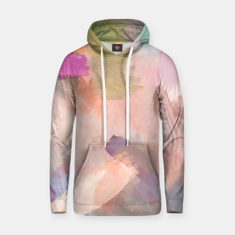 Thumbnail image of brush painting texture abstract background in pink purple yellow green Hoodie, Live Heroes