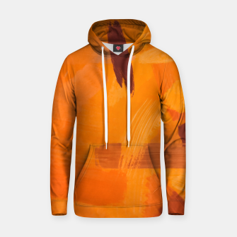 Thumbnail image of brush painting texture abstract background in orange brown Hoodie, Live Heroes