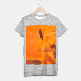 Thumbnail image of brush painting texture abstract background in orange brown T-shirt regular, Live Heroes