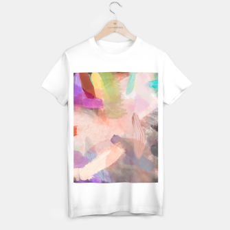 Thumbnail image of brush painting texture abstract background in pink purple yellow green T-shirt regular, Live Heroes