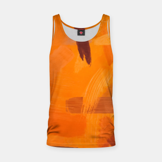 Thumbnail image of brush painting texture abstract background in orange brown Tank Top, Live Heroes