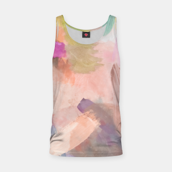 Thumbnail image of brush painting texture abstract background in pink purple yellow green Tank Top, Live Heroes
