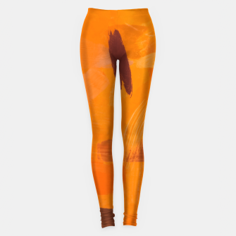 Thumbnail image of brush painting texture abstract background in orange brown Leggings, Live Heroes