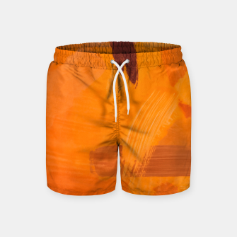 Thumbnail image of brush painting texture abstract background in orange brown Swim Shorts, Live Heroes