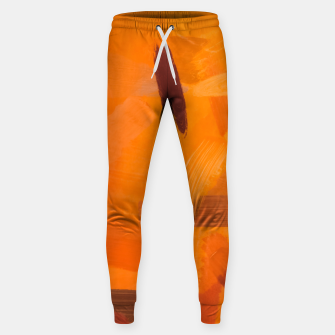 Thumbnail image of brush painting texture abstract background in orange brown Sweatpants, Live Heroes