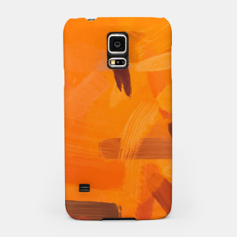 Thumbnail image of brush painting texture abstract background in orange brown Samsung Case, Live Heroes