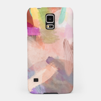 Thumbnail image of brush painting texture abstract background in pink purple yellow green Samsung Case, Live Heroes