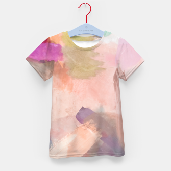 Miniatur brush painting texture abstract background in pink purple yellow green Kid's t-shirt, Live Heroes