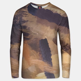 Miniaturka brush painting texture abstract background in black and brown Unisex sweater, Live Heroes