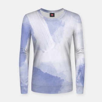 Thumbnail image of brush painting texture abstract background in grey Women sweater, Live Heroes