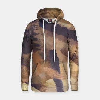 Thumbnail image of brush painting texture abstract background in black and brown Hoodie, Live Heroes