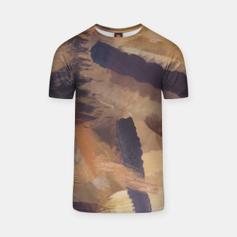 Imagen en miniatura de brush painting texture abstract background in black and brown T-shirt, Live Heroes