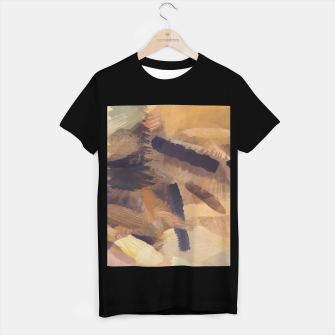 Thumbnail image of brush painting texture abstract background in black and brown T-shirt regular, Live Heroes