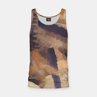 Thumbnail image of brush painting texture abstract background in black and brown Tank Top, Live Heroes