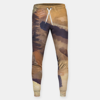 Thumbnail image of brush painting texture abstract background in black and brown Sweatpants, Live Heroes