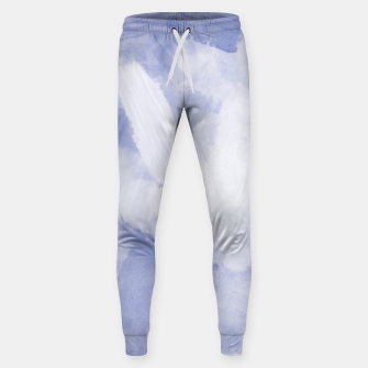 Thumbnail image of brush painting texture abstract background in grey Sweatpants, Live Heroes