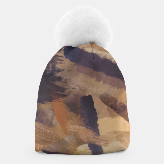 Imagen en miniatura de brush painting texture abstract background in black and brown Beanie, Live Heroes
