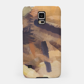 Thumbnail image of brush painting texture abstract background in black and brown Samsung Case, Live Heroes