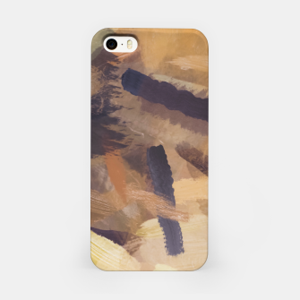 Thumbnail image of brush painting texture abstract background in black and brown iPhone Case, Live Heroes