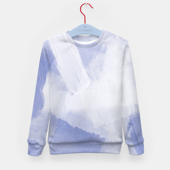 Thumbnail image of brush painting texture abstract background in grey Kid's sweater, Live Heroes
