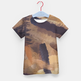 Thumbnail image of brush painting texture abstract background in black and brown Kid's t-shirt, Live Heroes