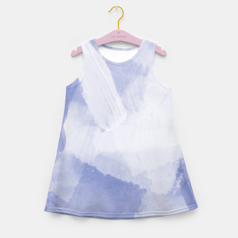 Thumbnail image of brush painting texture abstract background in grey Girl's summer dress, Live Heroes