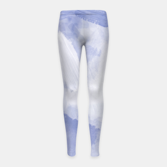Thumbnail image of brush painting texture abstract background in grey Girl's leggings, Live Heroes