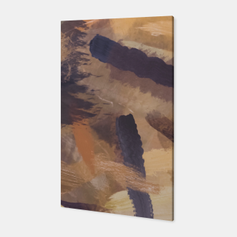 Thumbnail image of brush painting texture abstract background in black and brown Canvas, Live Heroes
