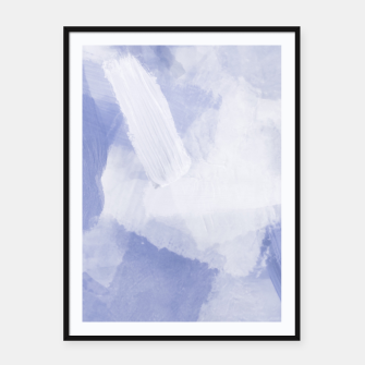 Thumbnail image of brush painting texture abstract background in grey Framed poster, Live Heroes
