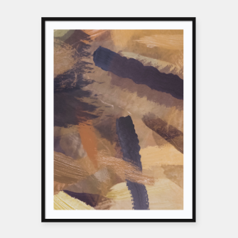 Thumbnail image of brush painting texture abstract background in black and brown Framed poster, Live Heroes