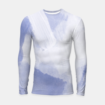 Thumbnail image of brush painting texture abstract background in grey Longsleeve rashguard , Live Heroes