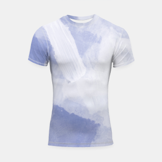 Thumbnail image of brush painting texture abstract background in grey Shortsleeve rashguard, Live Heroes