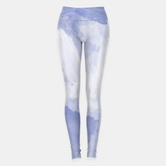 Thumbnail image of brush painting texture abstract background in grey Leggings, Live Heroes