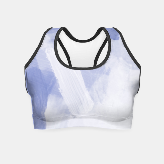 Thumbnail image of brush painting texture abstract background in grey Crop Top, Live Heroes