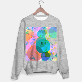 Miniatur geometric circle pattern abstract in blue pink green yellow Sweater regular, Live Heroes