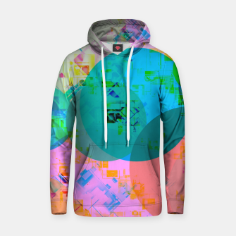 Thumbnail image of geometric circle pattern abstract in blue pink green yellow Hoodie, Live Heroes