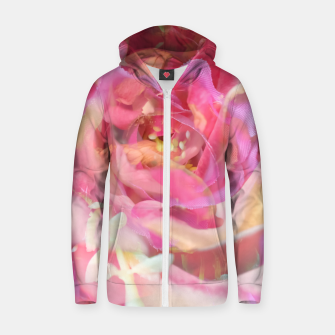 Thumbnail image of blooming pink rose texture abstract background Zip up hoodie, Live Heroes