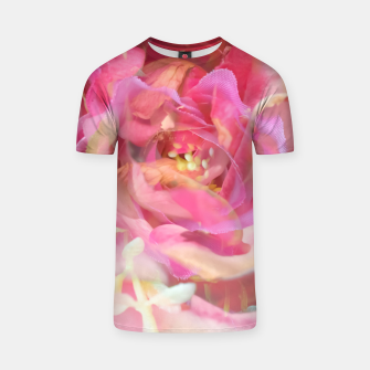 Thumbnail image of blooming pink rose texture abstract background T-shirt, Live Heroes