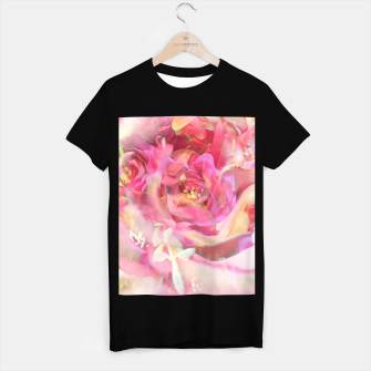 Thumbnail image of blooming pink rose texture abstract background T-shirt regular, Live Heroes