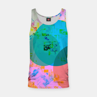 Thumbnail image of geometric circle pattern abstract in blue pink green yellow Tank Top, Live Heroes